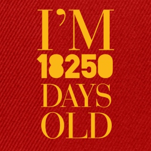 50 ° compleanno: Sono 18250 Old Days - Snapback Cap