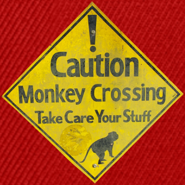 Caution Monkey Crossing