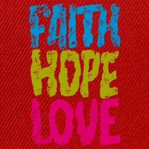 faith hope love - Snapback Cap