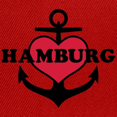 Anker Herz Hamburg Maritimes Motiv - Snapback Cap