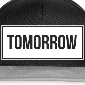 Tomorrow_White - Snapback Cap