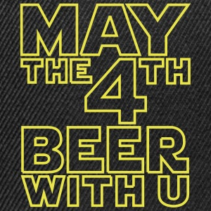 May the 4th beer with you - Funny T-Shirt - Snapback Cap