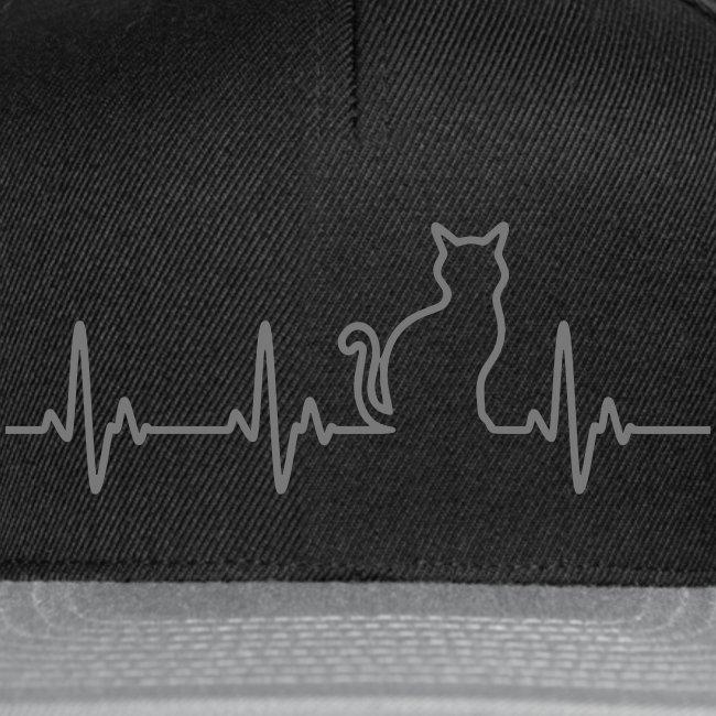 Vorschau: Ein Herz für Katzen - Snapback Cap