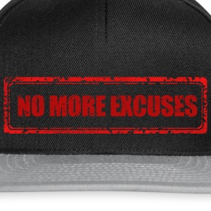 NO MORE EXCUSES - Snapback Cap