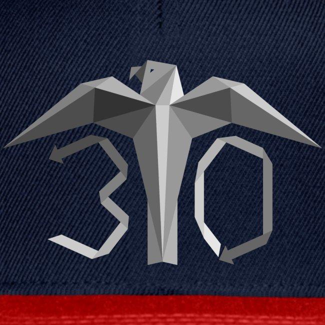 Harmaa juhlavuoden logo