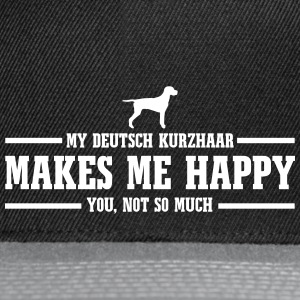 ENGLISH KURZHAAR makes me happy - Snapback Cap