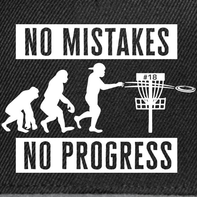 Disc golf - No mistakes, no progress - White