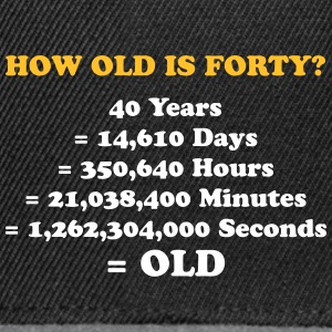 How Old Is 40 Really? - Snapback Cap