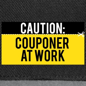 Couponing / Gifts: Caution - Couponer at work - Snapback Cap