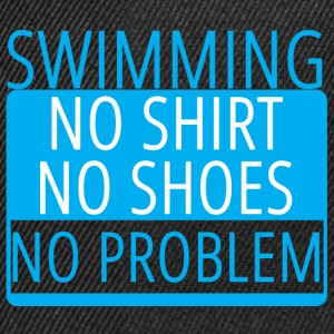 Swimming / Swimmer: Swimming - No Shirt, No Shoe - Snapback Cap