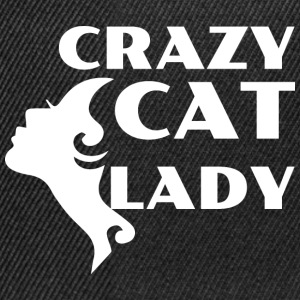 CRAZY CAT LADY white - Snapback Cap
