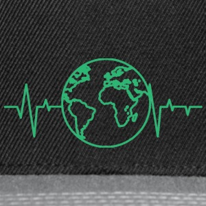 Earth Day / Earth Day: heart rate of the earth - Snapback Cap