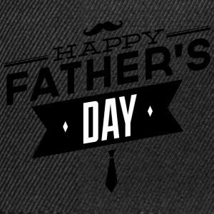 happy father s day black - Snapback Cap