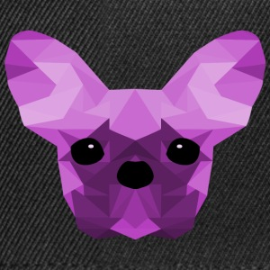 French Bulldog lilla Low Poly design - Snapback Cap