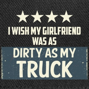 Trucker / Truck Driver: I Wish My Girlfriend Hvad Som - Snapback Cap