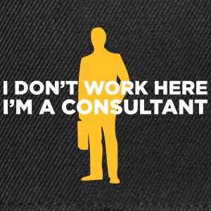 I Do Not Work. I Am A Business Consultant. - Snapback Cap