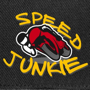 SPEED JUNKIE - MOTORCYCLE RACER ROAD RACING - Snapback Cap