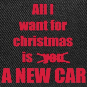 Christmas song saying new car - Snapback Cap