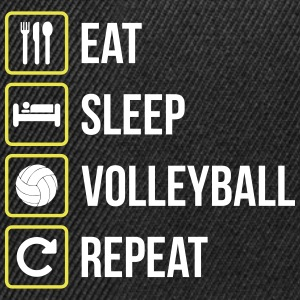 Eat Sleep Volleyball Repeat - Snapback Cap