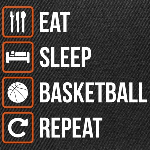 Eat Sleep Basketball Repeat - Snapback Cap