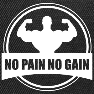 No pain no gain - Gym Bodybuilding - Snapback Cap