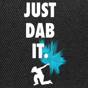 just_dub it dance gesturing symbol typo farbklecks - Snapback Cap