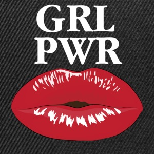 GRL PWR Power Girl Kiss T-shirt - Snapback cap
