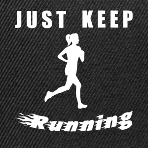 JUST KEEP RUNNING - Snapback Cap