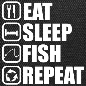 Eat sleep fish - Angeln, Fischer - Snapback Cap