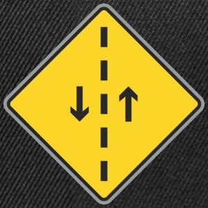 Road Sign both direction and dashed line - Snapback Cap