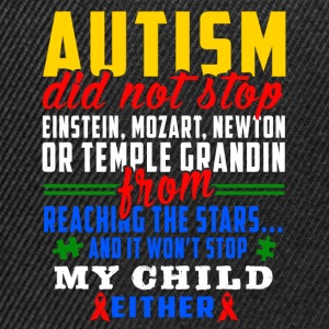 Autism does not stop - Snapback Cap