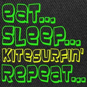EAT SLEEP KITESURFING REPEAT - Snapback Cap