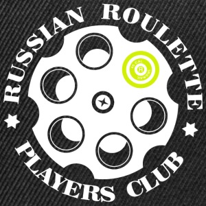 Russian Roulette Players Club logo 4 Sort - Snapback-caps