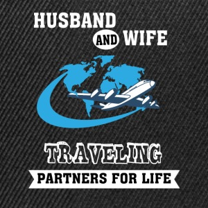 Husband And Wife, Partners for Life - Traveling - Snapback Cap