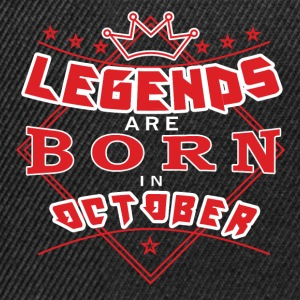 Legends October born birthday gift birth - Snapback Cap