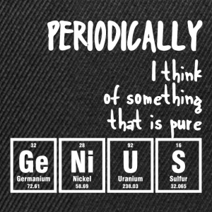Periodic table: Periodically i thik of something .. - Snapback Cap