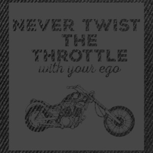 Biker / motorcycle: Never twist the throttle with - Snapback Cap