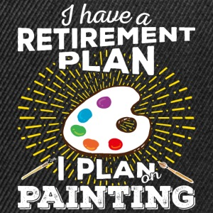 Retirement plan painting (light) - Snapback Cap