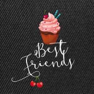 sweet best friends freunde cupcakes rosa lecker - Snapback Cap