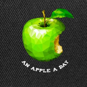An apple a day Nerd Programmers Pc System grü - Snapback Cap