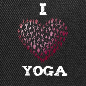yoga i love sports namaste Heart yogis buddha india - Snapback Cap