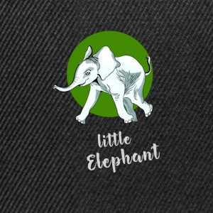 little_elefant baby cute mascot friend ju - Snapback Cap