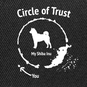 Grappig Shiba Inu Shirt - Circle of Trust - Snapback cap