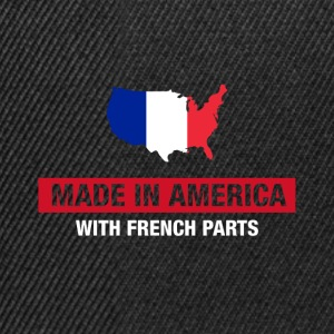 Gemaakt in Amerika met de Franse Parts France Flag - Snapback cap