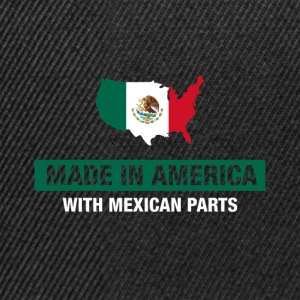 Made In America With Mexican Parts Mexico Flag - Snapbackkeps