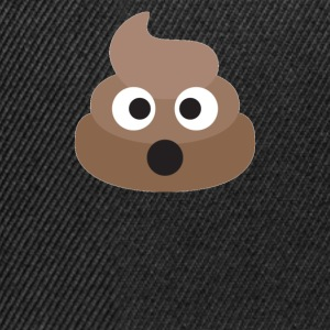Poo Emoji Face! Retro Design! - Snapback-caps