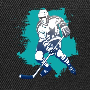 hockey puck hockey player attacking cool polar bears - Snapback Cap