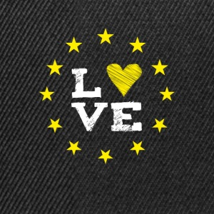 love Europe EU star circle heart demo statement LO - Snapback Cap
