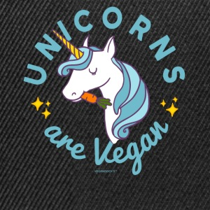 Unicorn TShirt - Unicorns are Vegan (Magic Blue) - Snapback Cap