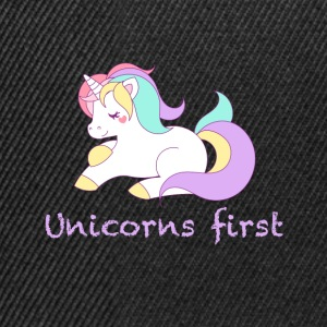 Unicorns first - Snapback Cap